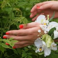 Браслет Летний с орхидеями