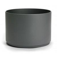 NIEUWKOOP Дизайнерское кашпо Multivorm structuur, круглое, 24x24 cm R9007 темно-серое