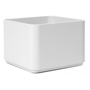 NIEUWKOOP Дизайнерское кашпо Multivorm structuur, квадратное, 20x20x14 cm R9007 темно-серое