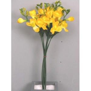 Фрезия букет, 6 шт., желтый, 46 см