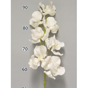 Аренда Цветок Орхидея Ванда, крем, 95 см