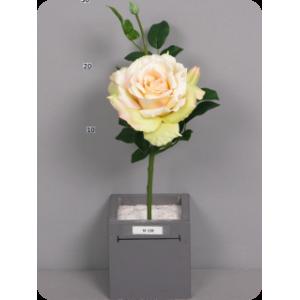 """Искусственная роза """"Рассвет"""", шампань, 33 см"""