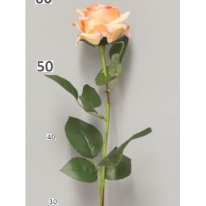 Искусственная роза  Дижон, цвета персик.Высота 64 см
