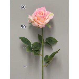 Искусственная роза Flixton, розового цвета. Высота 64смДиаметр бутона- 13 см.Высота бутона - 7 см.