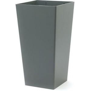 NIEUWKOOP Дизайнерское кашпо Promo structuur, прямоугольное, 40x40x75 cm R9007 асфальт
