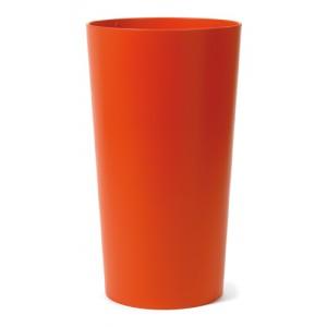 NIEUWKOOP Дизайнерское кашпо Primus structuur, круглое, 43x75 cm RAL2004 оранжевое