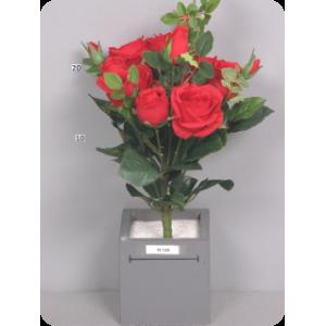 """Искусственная Роза """"Латина"""", букет  красный, 34 см"""