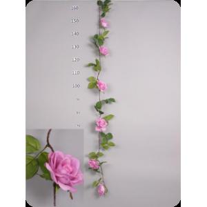 Гирлянда сиреневых роз 150 см