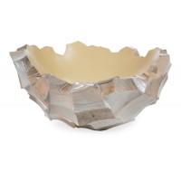 NIEUWKOOP Дизайнерское кашпо Ocean Bowl,  белый перламутр, круглое, 40x22 см