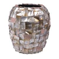 NIEUWKOOP Дизайнерское кашпо Ocean Planter, коричневый перламутр, круглое,  27x32 cm
