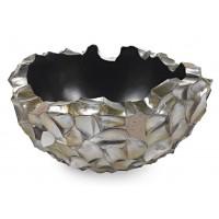 NIEUWKOOP Дизайнерское кашпо Ocean Bowl, коричневый перламутр, круглое, 40x22 cm
