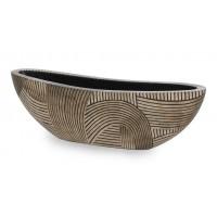 NIEUWKOOP Дизайнерское кашпо Desert Oval, овальное, 80x20x25 cm