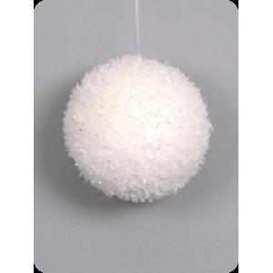 Рождественский шар белый, d 10см