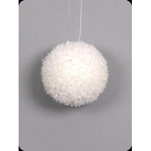 Рождественский шар белый, d 8 см