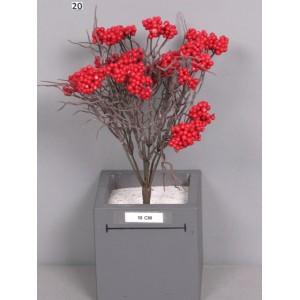 Ветка с красными ягодами, 28 см