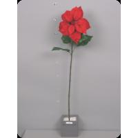Пуансеттия бархатная, красная, 86 см