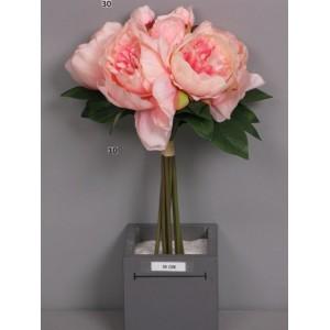 Букет пионов, розовый, 8 шт., 34 см