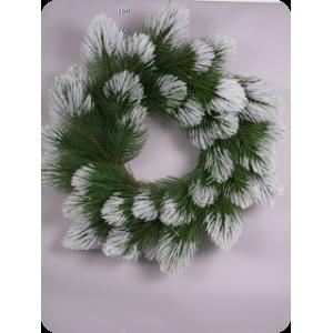 Сосновый венок Grande со снегом d122 см