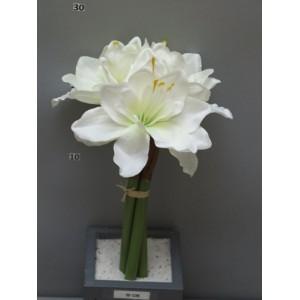 Амариллис Marit, букет из 3-х цветков, 30 см, кремовый