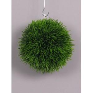 Шар из травы, зеленый, диаметр 14 см