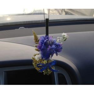 Ароматизированная палочка для авто в цветочной миникомпозиции. Натуральный запах цветочного букета сохраняется до 60 дней.
