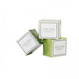 Мыло с маслами арганы, миндаля, какао и дерева ши, со свежим травяным ароматом.