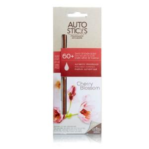 """Натуральный ароматизатор для автомобиля AutoSticks """"Цветущая вишня"""", 3 шт в упаковке . Действуют 60 дней и более, пр-во США. Упаковка содержит 3 палочки, мешочек из органзы и эластичный шнур."""
