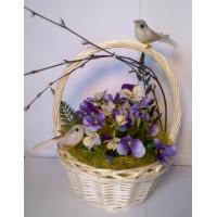 Пасхальная корзинка Весна в лесу