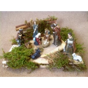 Рождественский вертеп (11 фигур) №1