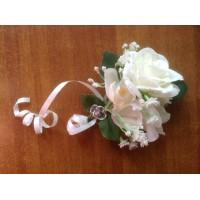 Заколка - брошь - бутоньерка свадебная с розой