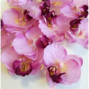 Упаковка из 12 шт. Головки фаленопсиса/орхидеи, розовые, маленькие