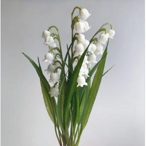 Ландыши, букет из 3 шт., белые, 26 см