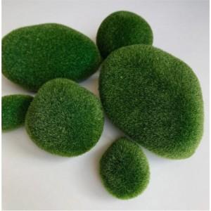 Камни из мха, зеленые, 6 штук в упаковке