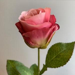 Искусственная роза Rugosa, розовая