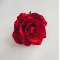 Роза Плэйсэнс на клипсе, красная, 12 см