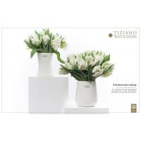 Керамическая ваза для тюльпанов TIZIANO, крем, 15 см