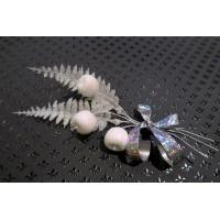 Новогоднее украшение подарочной упаковки (коробки)-белое серебро